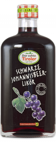 Black currant liqueur from the Tiroler Kräuterdestillerie